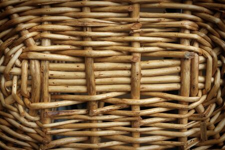 Closeup seamless rattan wicker of basket bottom  photo