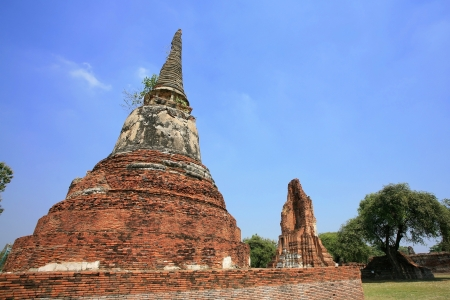 existed: Old pagoda in Ayutthaya, the ancient capatal existed from 1350 to 1767, Thailand