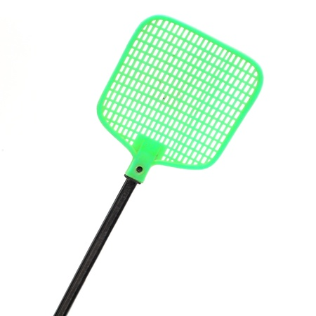 Closeup swatter isolated on white background
