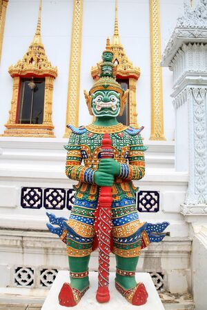 Statue of Thai giant guardian in front of the temple Stock Photo - 15007604