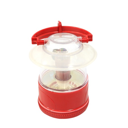 red oil lamp: Red oil lamp with holder isolated on white backgroud
