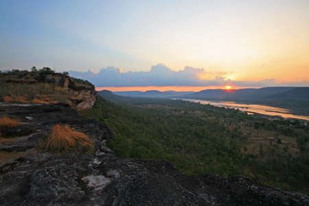 Sunrise scenic at the peak view of Pha Taem national park in Ubon Ratchathani province, Thailand Stock Photo - 16367689