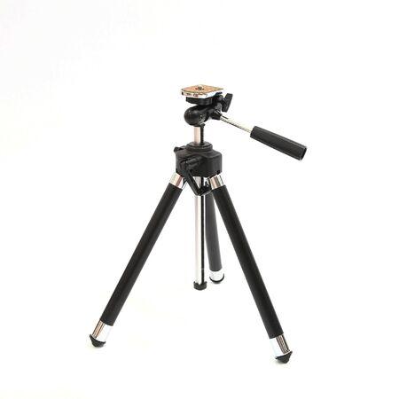 chrome base: Mini treppiede di metallo nero isolato su sfondo bianco
