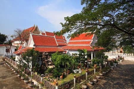 nonthaburi province: Aerial view of Chalerm Prakiat temple n Nonthaburi province, Thailand