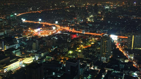 technoligy: Aerial cityscape view of Victory Monument in Bangkok, Thailand