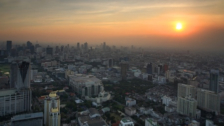 Bangkok cityscape at sunset, Thailand Stock Photo - 17243825