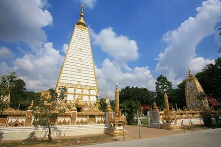 northeast: Beautiful chedi at Wat Phrathat Nong Bua in Ubon Ratchathani province, Thailand