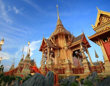bejaratana: Royal funeral pyre of HRH Princess Bejaratana Rajasuda at Sanam Luang in Bangkok, Thailand