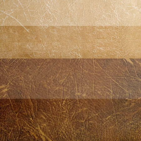 Set of gradient brown leather texture photo
