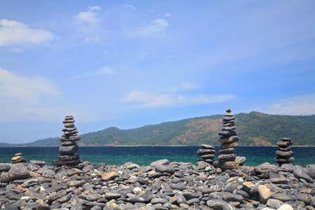 Beautiful pebbles island at Andaman sea near Lipe island, Thailand