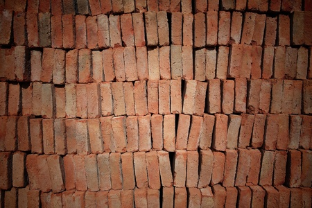 Stack of red bricks  photo