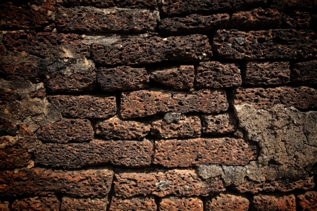 Grunge Texture of Laterite stone wall  photo
