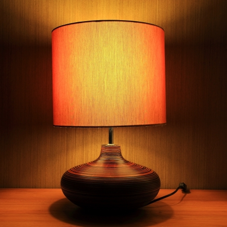 Luxury lamp on table photo