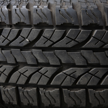 Texture of old truck tire photo