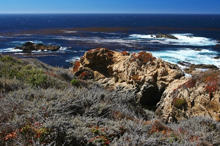 Sea View at 17 Mile Drive in Big Sur at Monterey, California  photo