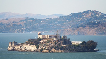 san fran: Alcatraz Island in San Francisco, USA Editorial
