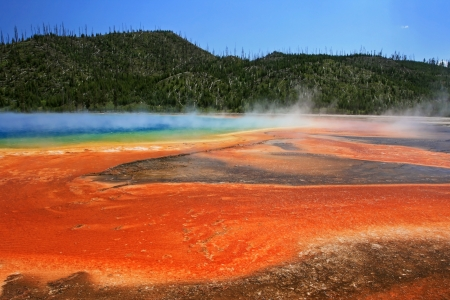 Midway geyser basin at yellowstone national park, Wyoming  photo