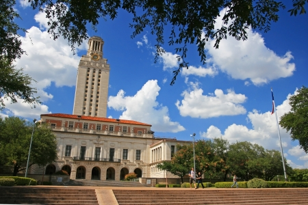 AUSTIN,TEXAS-JUL 19  Academic building dome of University of Texas  UT  in Austin, Texas, USA on July 19, 2008  UT, founded in 1883, has the fifth-largest single-campus enrollment in US   Editoriali