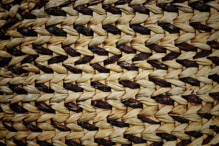 wickerwork: Closeup texture of Black and brown Woven basket texture