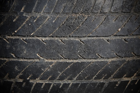 textured pattern of abandon car tire photo