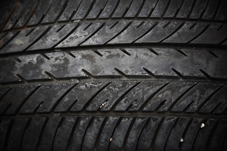 disposed: textured pattern of used car tire