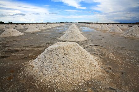 Stack of Salt in the farm, thailand photo
