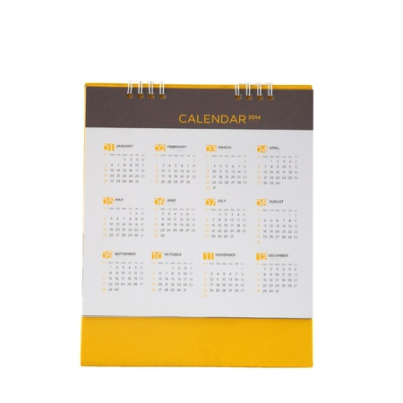 Desk calendar of all months in 2013 year, isolated on white background photo