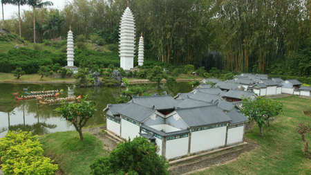 Yunnan dwelling or city model at cultural Splendid China park in Shenzhen Stock Photo - 24722433