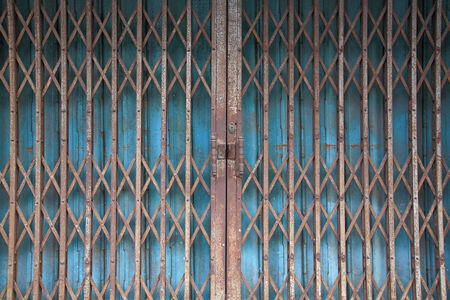 chinese rusty traditional gate or folding doors photo