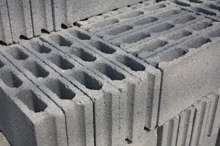 masonary: Cement blocks prepared for construction