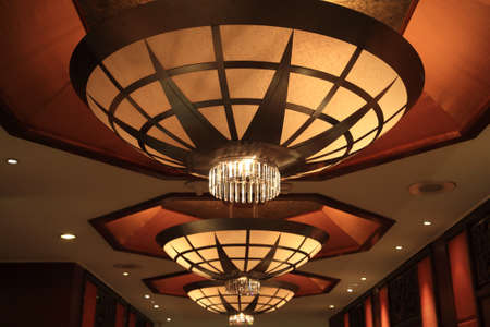 Luxury lamp or chandelier decorated inside the building photo