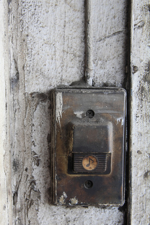 Old Entry Bell Or Buzzer At Front Door Stock Photo Picture And