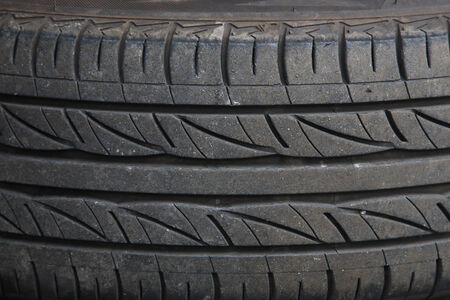 disposed: Background texture of used car tire