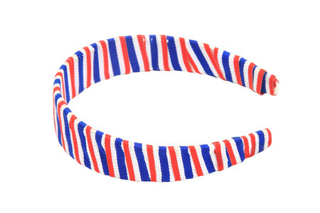 Thai flag hair band isolated on white background  photo