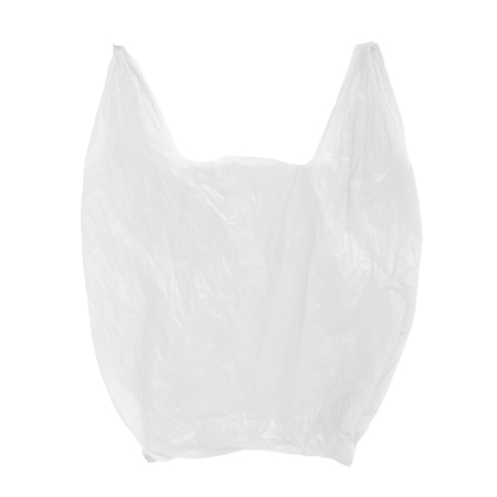 White Plastic cellophane bag isolated on white background