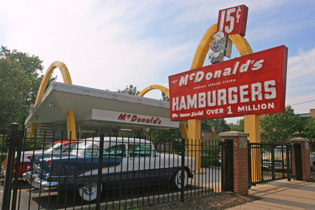 DES PLAINES, ILLINOIS, USA - JULY 27, 2008: The first McDonald's Store Museum found by McDonald's Corporation founder, Ray Kroc, opened on April 15, 1955.