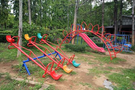 Old children playground in the park
