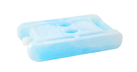ice chest: ice pack isolated on white background