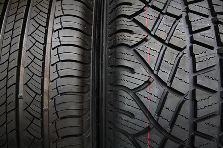Textured background of New Tires photo