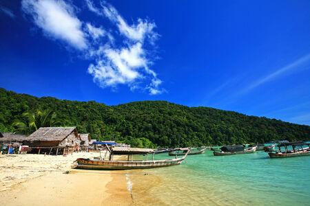 Islanders Morgan Sea Gypsy Hut, Surin Island, Pheang-gna,Thailand photo