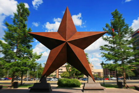 Big star landmark with Explosion zoom at Austin downtown, Texas, US