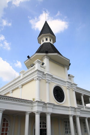 dome building: Dome building landmark at Thammasat alumni society in Bangkok, Thailand Stock Photo