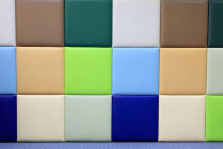 wall covering: Colorful soft wall covering panel at kid kindergarten