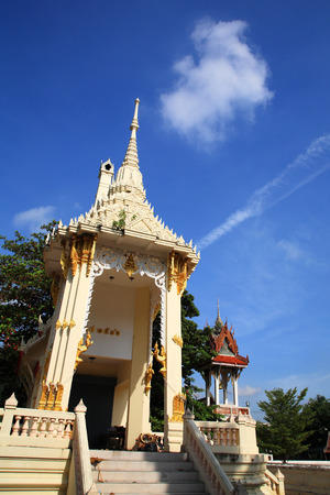pyre: crematory or pyre against blue sky in Thai temple