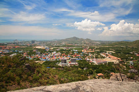 hua hin: Hua Hin cityscape from peak view point, Thailand Stock Photo