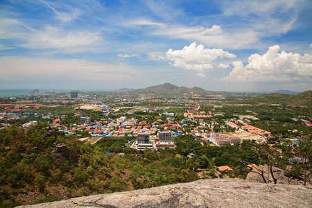 hin: Hua Hin cityscape from peak view point, Thailand Stock Photo