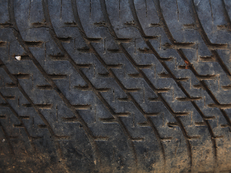 disposed: Background texture of used car tire, square shape