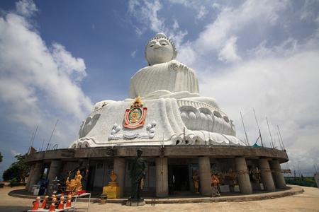 marmorate: Big Buddha monument landmark in Phuket, Thailand