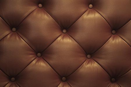 De cuero marrón de la vendimia Sofá Botón de textura de fondo