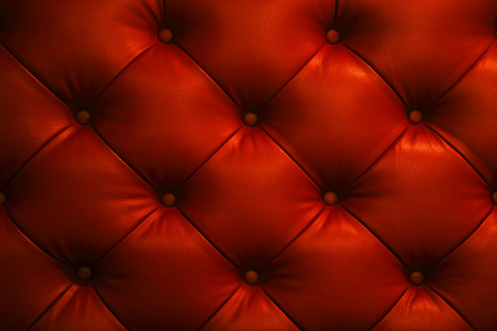 Vintage glitter red leather Sofa Button for textured background